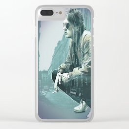 Falco on the Street Clear iPhone Case