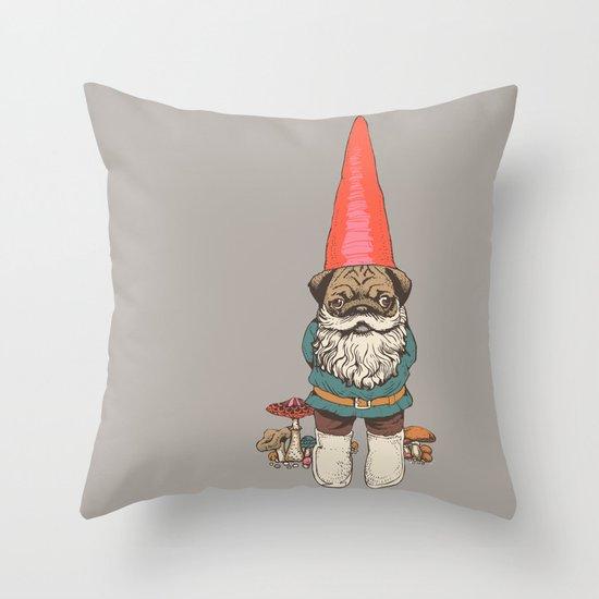 Pugnomie Throw Pillow