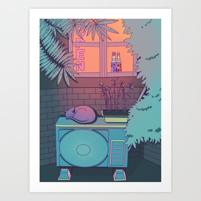 Ramune Cat Kunstdrucke