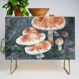 Family of mushrooms by Teresa Thompson Credenza