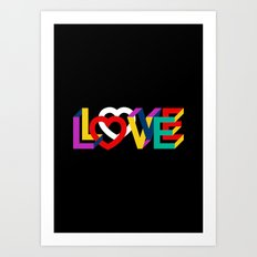 IN LOVE ANYTHING GOES ! Art Print