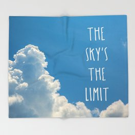 Sky's the limit - cloudscape Throw Blanket