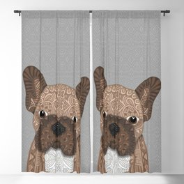 Brown Frenchie Puppy 001 Blackout Curtain