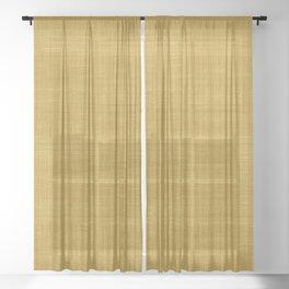 Tissu d'écorce Gold Sheer Curtain