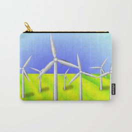 Windfarm in a field Carry-All Pouch