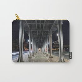 Pont de Bir-Hakeim at night - Paris, France Carry-All Pouch