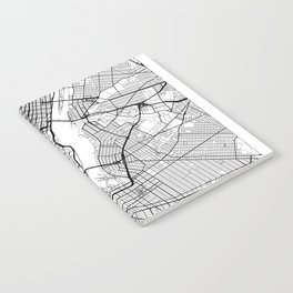 New York Map White Notebook