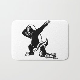 Dabbing Honey badger Bath Mat
