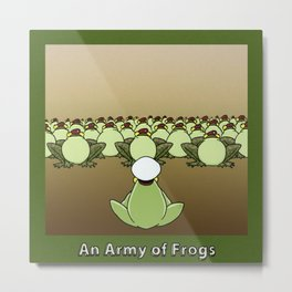 AN ARMY OF FROGS Metal Print