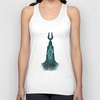 bioshock infinite Tank Tops featuring Bioshock - Andrew Ryan and The Lighthouse by Art of Peach