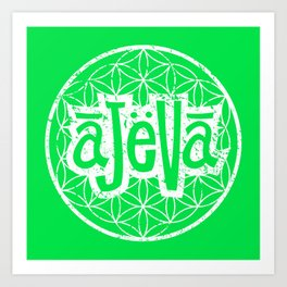 Ajeva Logo Green Art Print