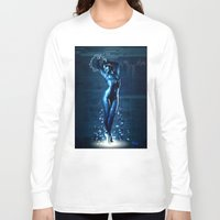 hologram Long Sleeve T-shirts featuring Cortana by Raenyras