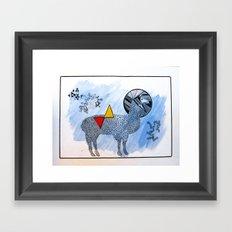 LAMA. Framed Art Print