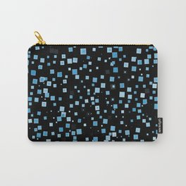 Blue Speckled Waves Carry-All Pouch