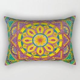 Secret Garden mandala Rectangular Pillow
