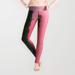 proud pink pines Leggings