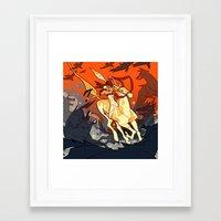 western Framed Art Prints featuring Western by Jemma Salume