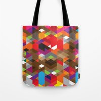 deadmau5 Tote Bags featuring Life like a Geometry by Sitchko Igor