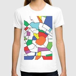Milan, Italy, Shapes, City, Map T-shirt