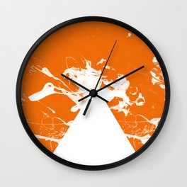 Kill the White Pyramid Wall Clock