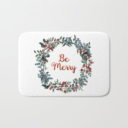 Be Merry! Berries Wreath Bath Mat