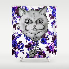 Mr. Whiskers Shower Curtain