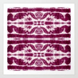 Tie-Dye Burgundy Twos Art Print