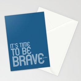 It's Time To Be Brave - Jess Novak Lyric Print - Inspirational Stationery Cards