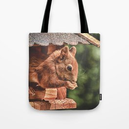 Foraging Squirrel in Little House Tote Bag