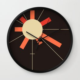 paper sun || charcoal Wall Clock