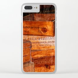Wine crates Clear iPhone Case