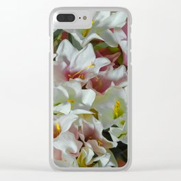Pastel lilies Clear iPhone Case