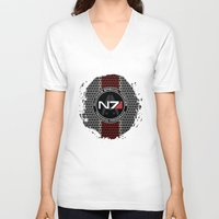 n7 V-neck T-shirts featuring N7 by aleha