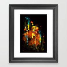 technicity lights Framed Art Print