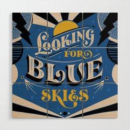 Blue Skies Wood Wall Art