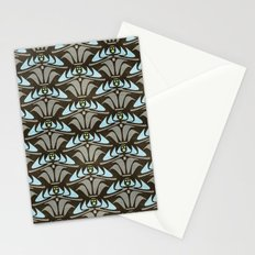 Blue - Arts and Crafts Inspired Stylized Floral Pattern - Susan Weller Stationery Cards