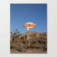 pocket fuel Canvas Prints featuring Fuel Stop by Shy Photog