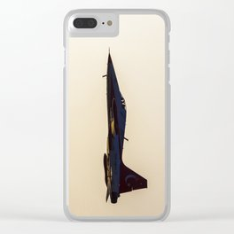 Turkish military acrobatic airplane in backlight Clear iPhone Case