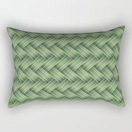 Green Wicker Seamless Pattern Rectangular Pillow