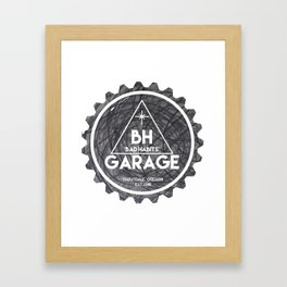 BH GARAGE OG LOGO BAD HABITS Framed Art Print