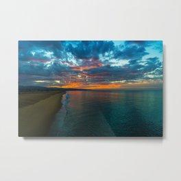 Sunrise from Balboa Pier Metal Print