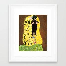 Kiss (black) Framed Art Print