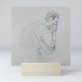 Matthew Sulking Mini Art Print