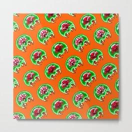 Metroid pattern | orange || retrogaming nostalgic Metal Print
