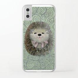 Cute Baby Hedgehog Clear iPhone Case