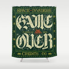 GAME OVER! Shower Curtain