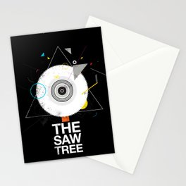 The saw tree Stationery Cards