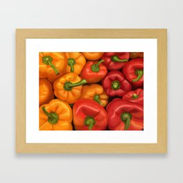 Red and Yellow Peppers Framed Art Print