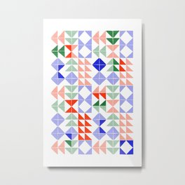 Color Triangles Metal Print