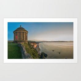 Mussenden Temple,Castle rock,Ireland,Northern Ireland,Antrim Coast Art Print